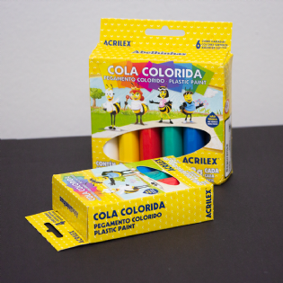 Cola Colorida 23g Cx C/ 6 Cores - Acrilex